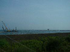背広海水浴