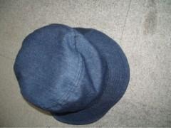 今日の帽子。