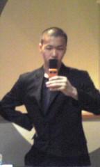 坊主inスーツ