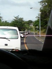 渋滞中( ̄▽ ̄;)