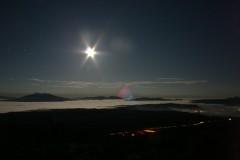 夜の斜里岳