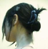まとめ髪><