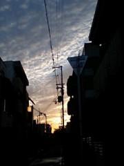 今週の夕焼け空