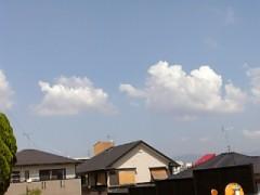 ふと見た空に雲・・・