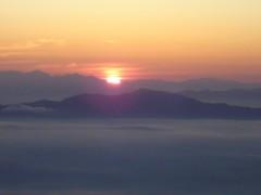 岐阜山頂から見た日の出