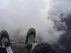 雲の中をゆく