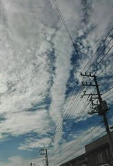 阿蘇噴火12時間前の空