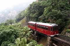香港島・ピークトラムに乗る