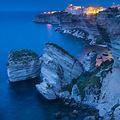 世界の名所 「ボニファシオの夜景」 フランス、コルシカ島 ☆ナポレオン所縁?✰