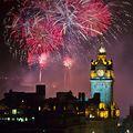 世界の名所 「エディンバラ・フェスティバルの花火」 イギリス,  エディンバラ