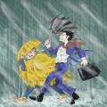 傘、持ちたくない。